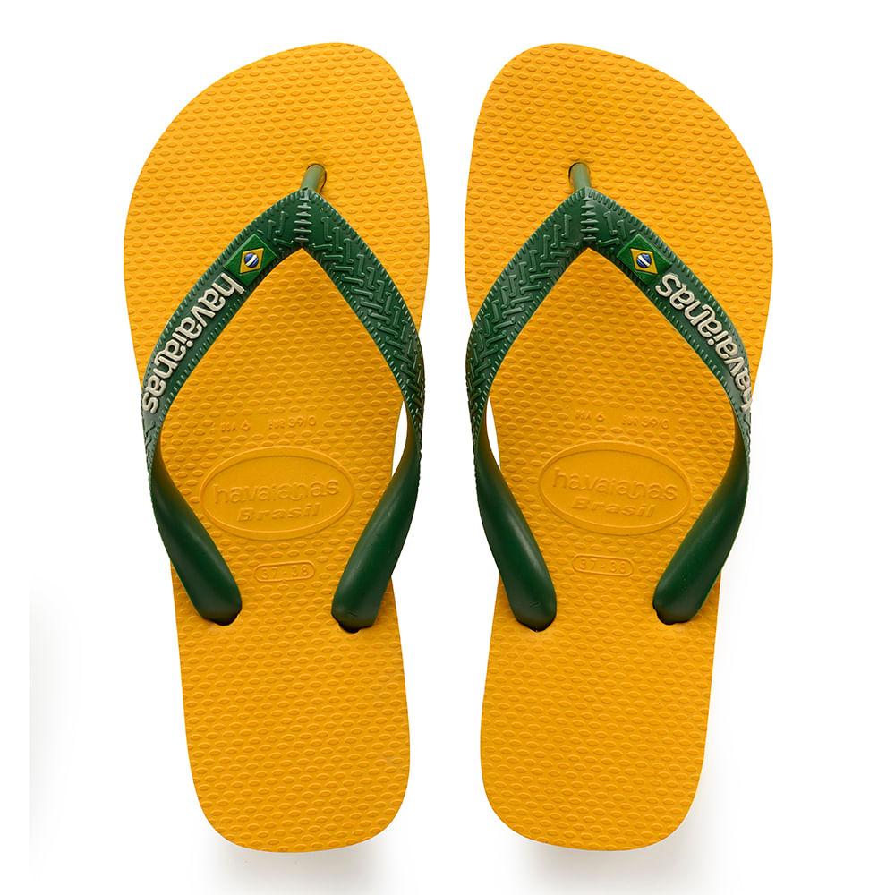 846b2f24472 Chinelo Havaianas Logo Brasil Amarelo - havaianas